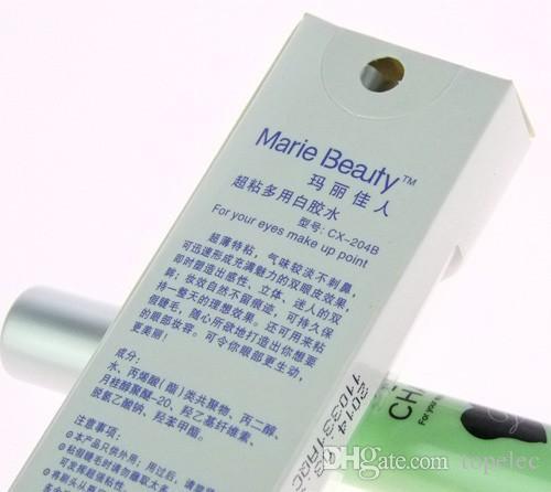 Marie Güzellik Göz Charm 7 ml Yanlış Kirpik için Makyaj Tutkal Çift Göz Kapağı Kirpik Tutkal 2000 adet ücretsiz kargo DHl 60