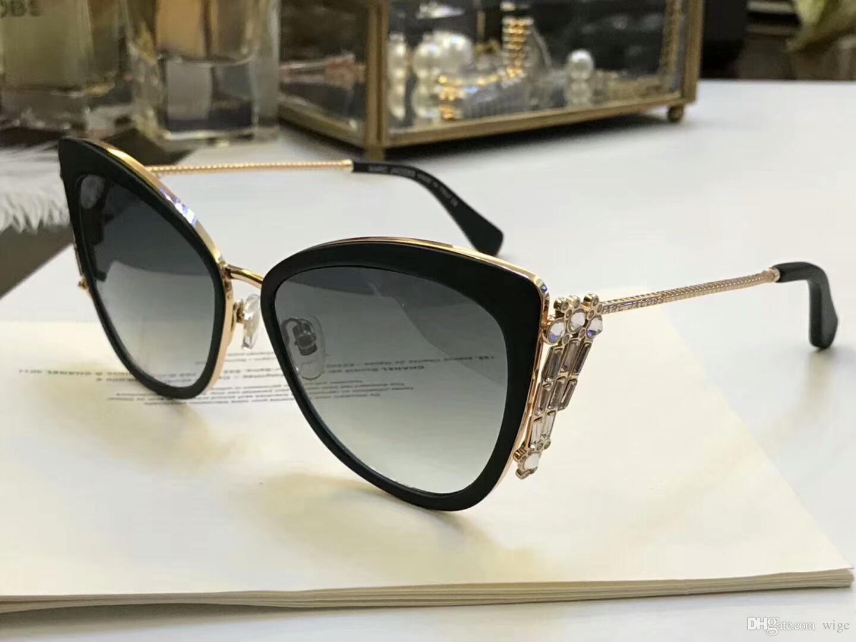 2846f5effe Women Stone Cat Eye Sunglasses 263 S Black Gold  Grey Gradient 56MM  Designer Brand Sunglasses New With Box Cheap Sunglasses Mens Sunglasses  From Wige