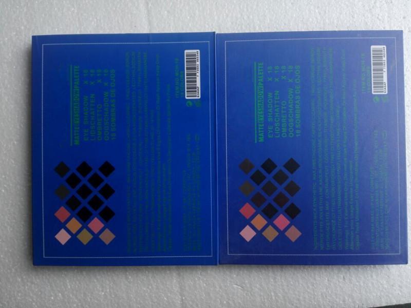 뜨거운 판매 고품질 메이크업 크리스 장 18 색 아이 섀도우 팔레트는 최고 qaulity DHL의 배송 2types