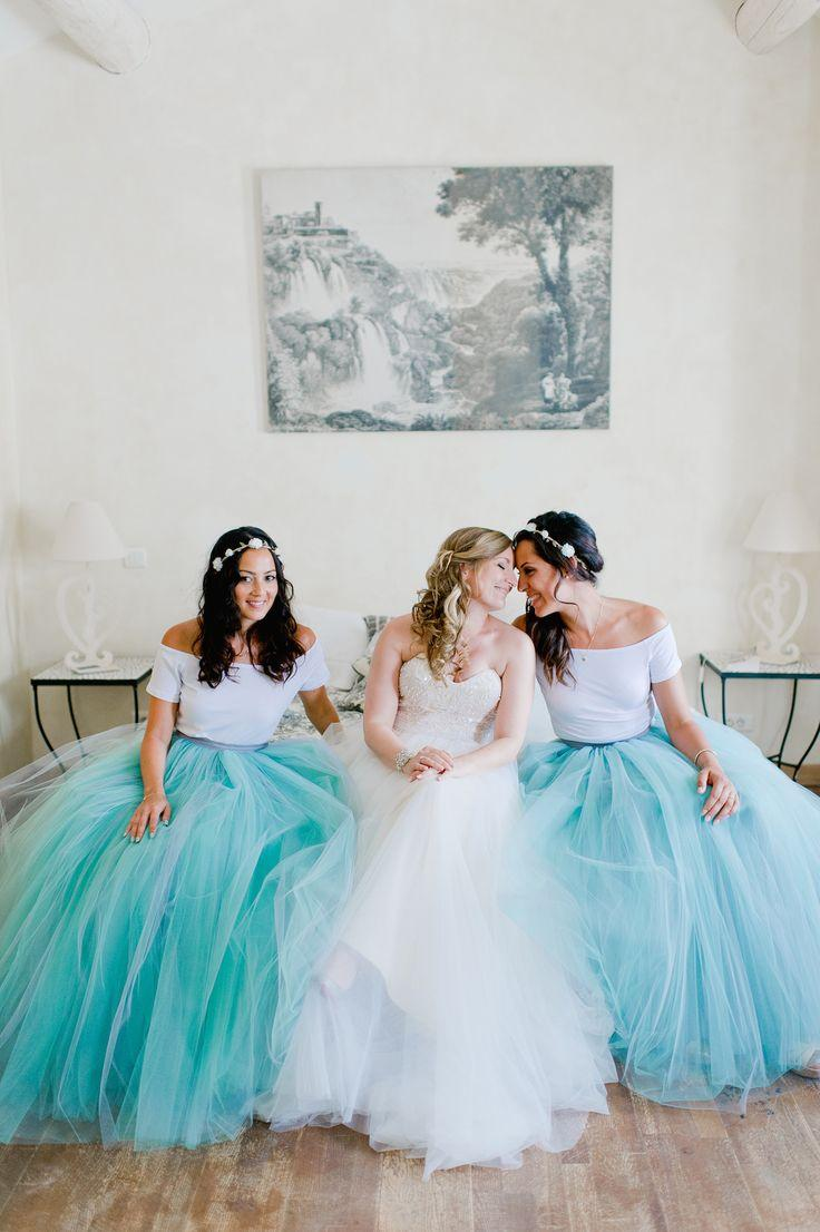 Long Tutu Skirts Bridesmaid Dresses For Wedding Event