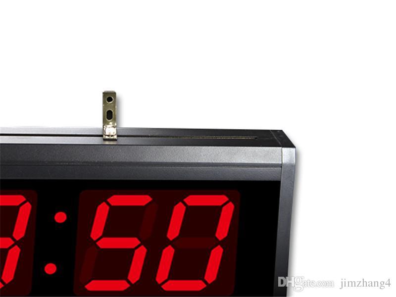 ¡HT4819SM-3, envío libre, reloj de pared grande de aluminio de Digitaces LED, diseño moderno del reloj grande, reloj de Digitaces! Calendario electronico led
