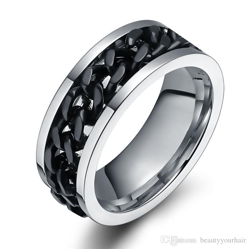 Stainless Steel Male Ring Finger Punk Rock Jewelry Wholesale