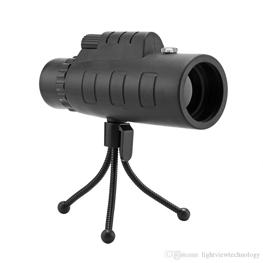 تلسكوب عالمي عدسة الهاتف 40x60 HD للرؤية الليلية أحادي مع كليب وترايبود قابل للتعديل للهاتف بوصلة كاميرا في الهواء الطلق تلسكوب