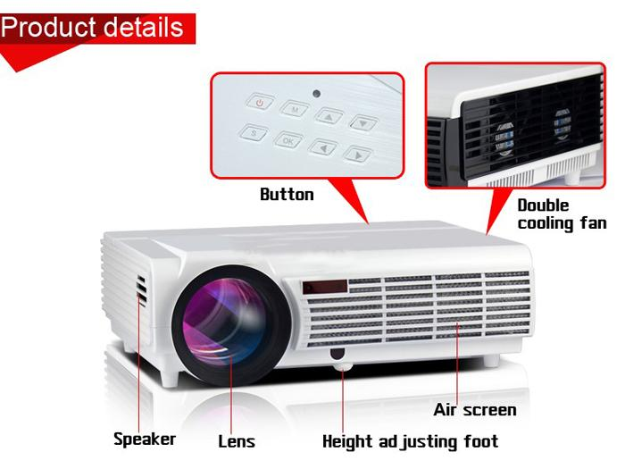 New Cheap Factory Price !!! New LED96 Android WIFI Video HDMI USB DVB-T 1280x800 Full HD 1080P Home Theater 3D LED projector DHL