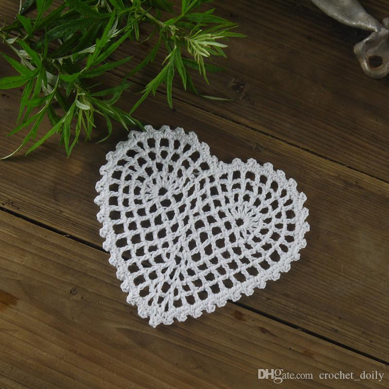 """Handmade Crocheted Doilies Mat pad Round Vintage Heart-shaped wedding home decoration Coasters 10cm/4"""" Physical picture 100%"""