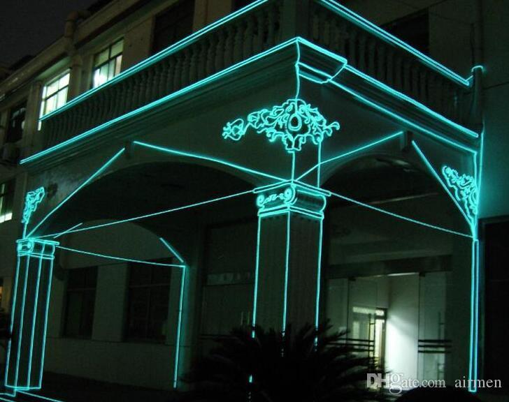 2 * AA Battery Power 5M Led Neon Glow legare di EL dell'automobile Dance Party Bar Decoration + regolatore della luce al neon flessibile del LED