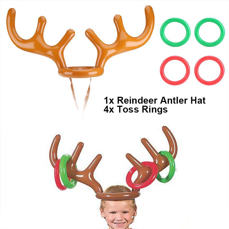 2018 Inflatable Reindeer Antler Hat Ring Toss Game Xmas Holiday Party Toys  Children Fun Gifts Christmas Hat Hoop From Lumylu, $1.0 | Dhgate.Com