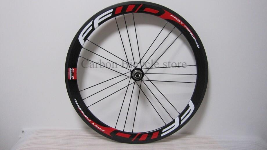 Ffwd F5r Carbon Road Wheelset 50mm Full Carbon Bike Wheels Red
