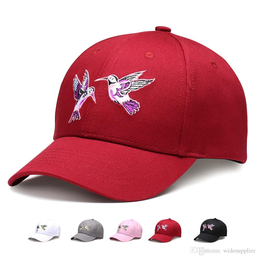 41f92bd925175 2017 Unisex Cotton Dad hat Cap Embroidery Birds Baseball Hats Fitted Casual  Caps Women S Cap Embroidery Snapback Hip Hop Hats