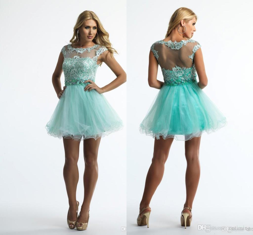 Unique 8th Grade Graduation Dresses 2015 Spring A Line Capped ...