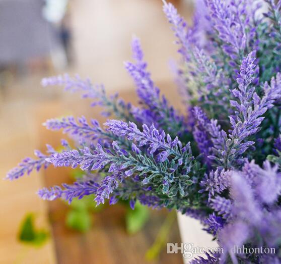 Artificial Lavender Bunch Silk flowers Lavenders For Wedding Party Home Decorative flowers lavender artificial