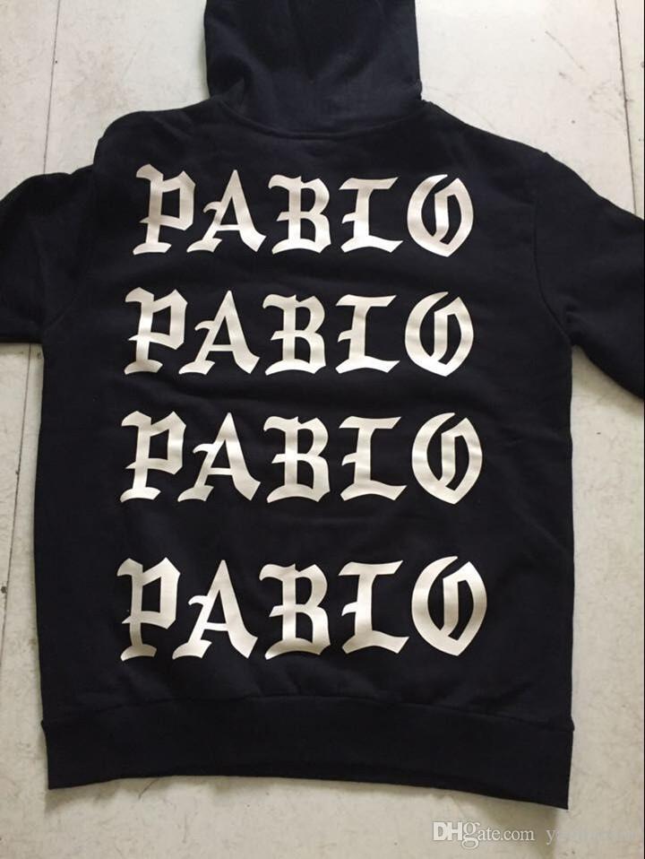 Hip Hop Hoodies Ich fühle mich wie Pablo Hoody Kanye West Hooded Sweatshirts Männer 2017 Liebhaber Streetwear Schwarz S-3XL