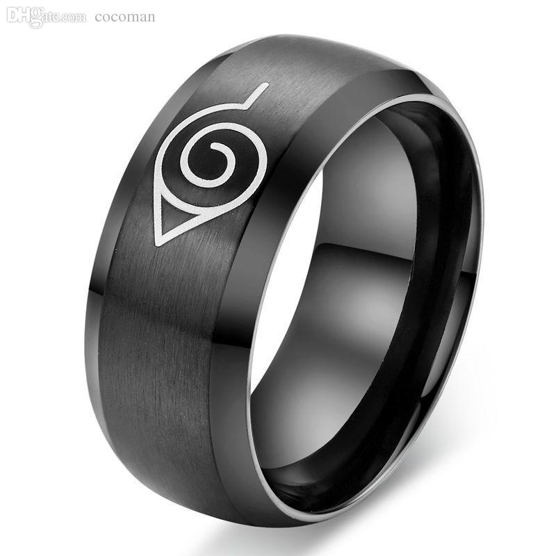 Wholesale Anime Naruto Male Ring Titanium Steel Ring Stainless Steel