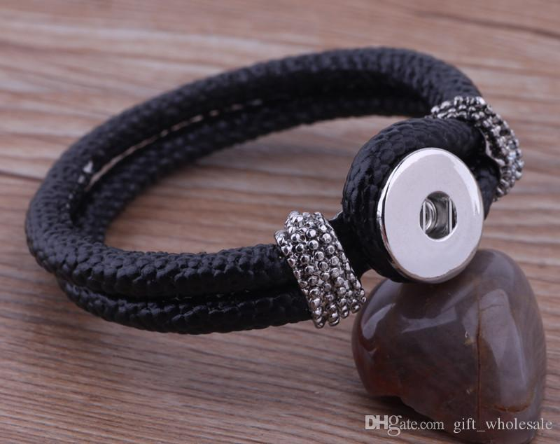 NOOSA mini noosa chunks snap button woven or leather bangles bracelets fashion hot ginger snaps interchangeable DIY Jewelry
