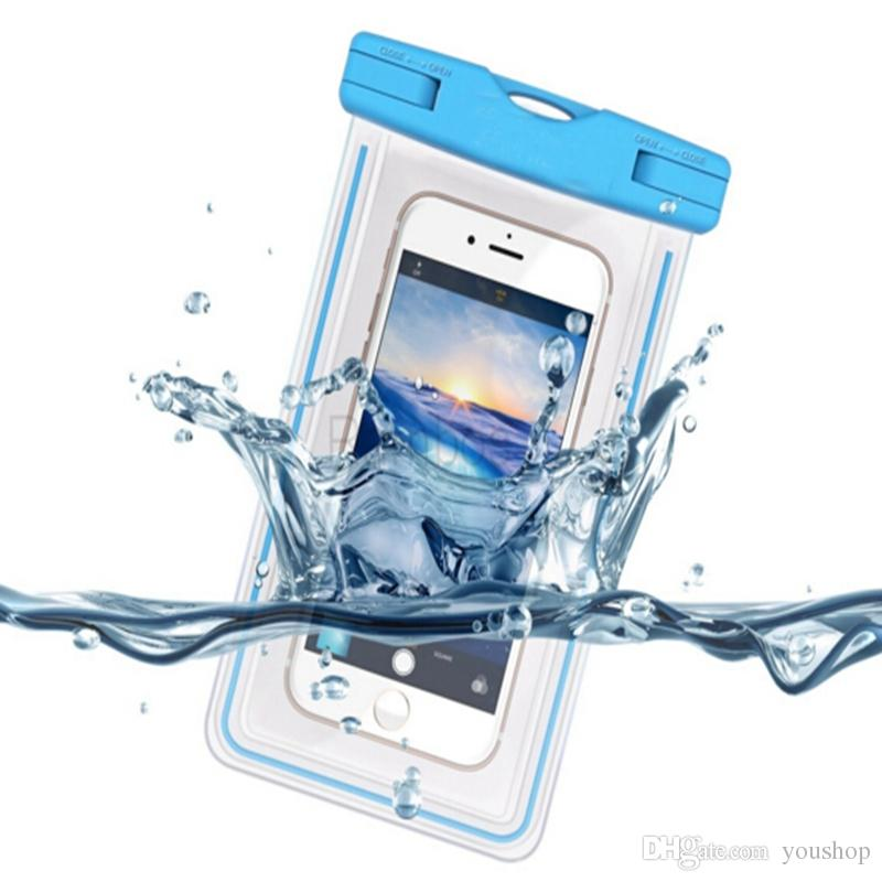 """Universal Waterproof Case Cover Underwater Cell Phone Dry Bag for iphone 6S 6S Plus for Samsung Galaxy S6 Edge up to 5.3"""""""