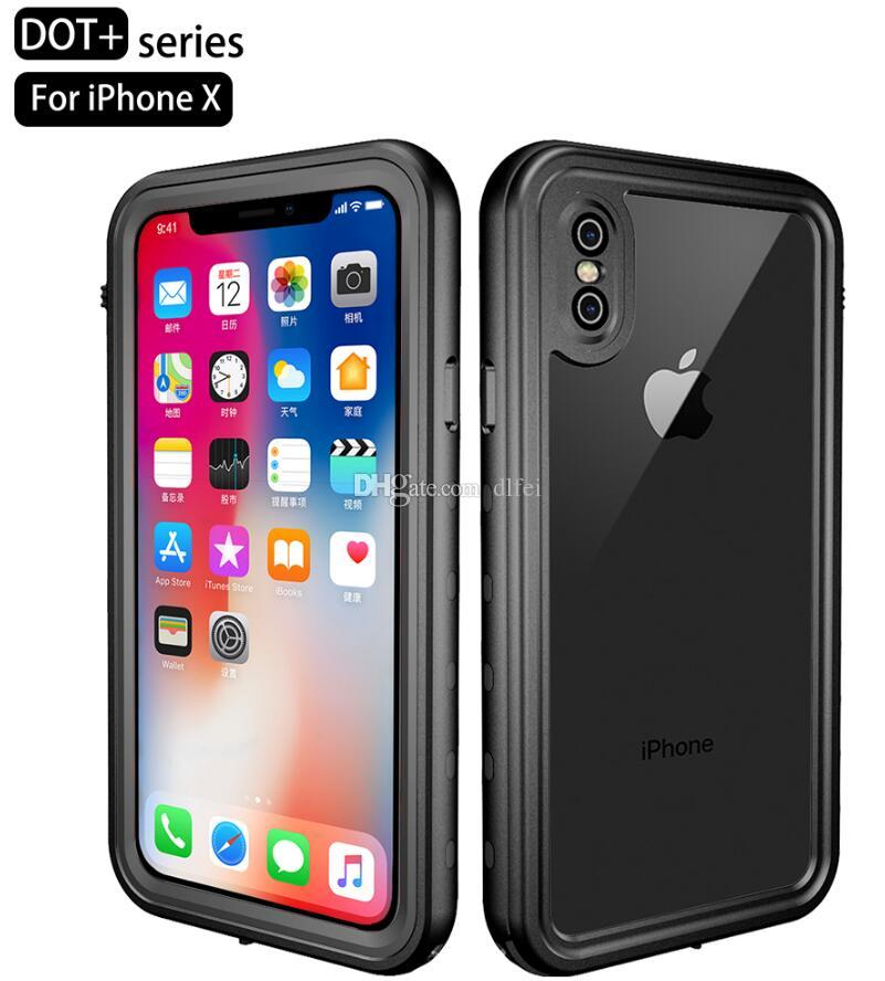 360 Full TPU PC Cover Shock/Dirt/Snow Proof Built-in Screen Phone Case for iPhone X 8 7 6S 5S 5C