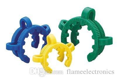 10 milímetros 14 milímetros 19 milímetros de plástico K-clipes Keck Clipe Lab braçadeira Keck braçadeiras de plástico Clipe braçadeira de vidro para o vidro Bong vidro Adapter Nectar Collector