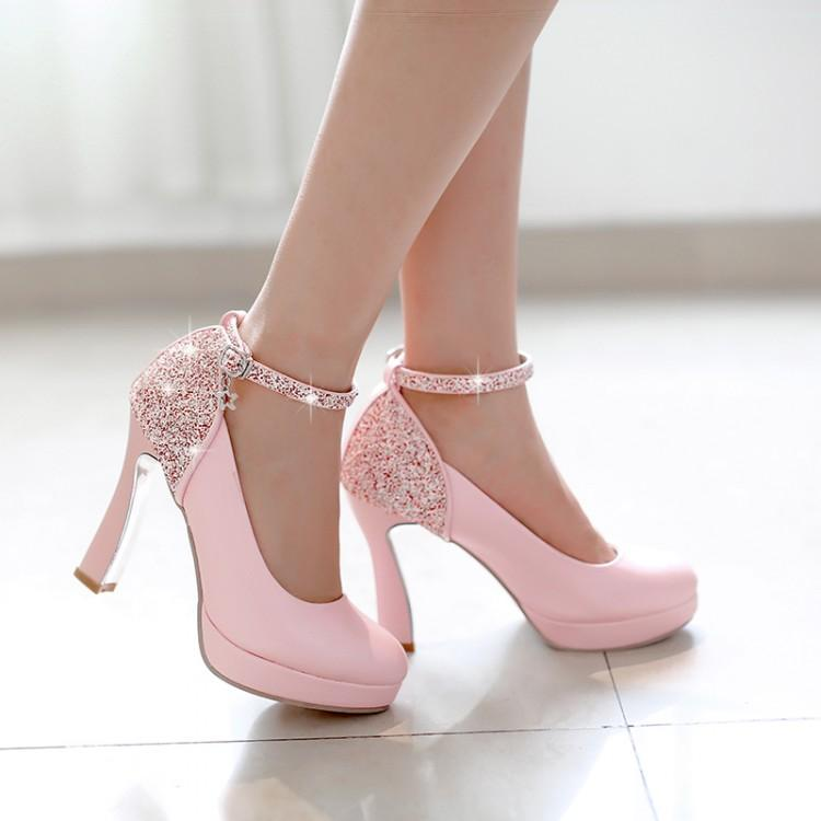 Women Hot Sale High Heels Prom Wedding Shoes Lady Crystal ...