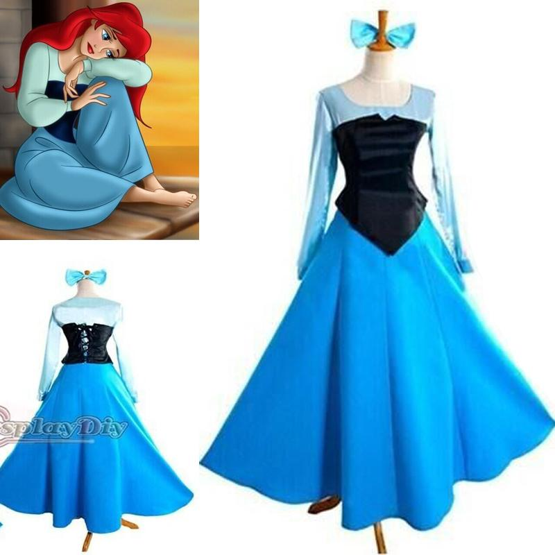 Customized The Little Mermaid Princess Ariel Dress Cosplay Adult Costume High Quality For Halloween And Christmas Party Cheap Costumes Fairy Costumes From ...  sc 1 st  DHgate.com & Customized The Little Mermaid Princess Ariel Dress Cosplay Adult ...