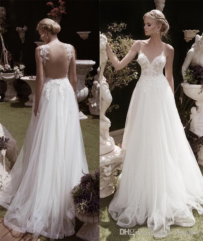 Country Bohemian Wedding Dresses 2017 Vestidos De Novia A Line
