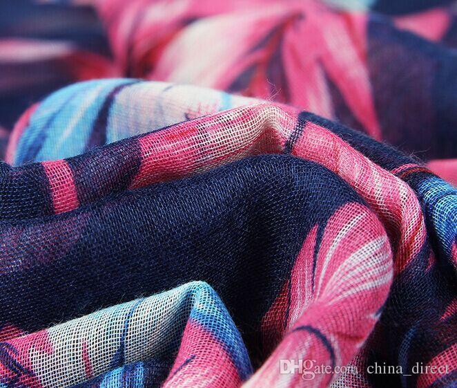 Menina mulheres primavera verão outono outono voile Cachecol xales sarongs lenços roubou lenço lenço 180 * 90 cm 17 pçs / lote # 3985