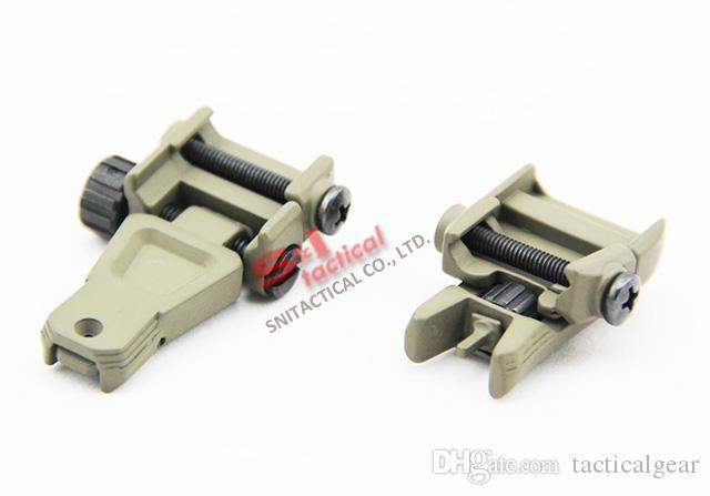 Tactical GEN3 Metall Front Hinten Backup Klappvisier Für PTS mit Kennzeichnung Dunkle Erde