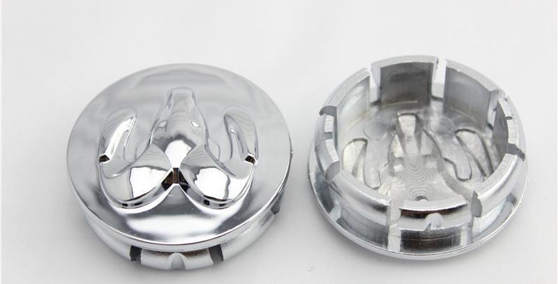 4 قطع abs سيارة شعار محور العجلة كاب 54 ملليمتر الماعز غطاء مركز سيارة شعار مركز الديكور كاب ل دودج