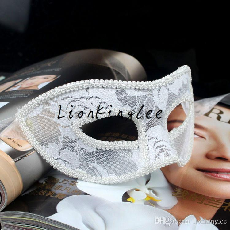 New Mask Halloween Costume Party lace Mask Christmas Carnival Masquerade Dance Venice Mask Side Feather Flower 2 Models