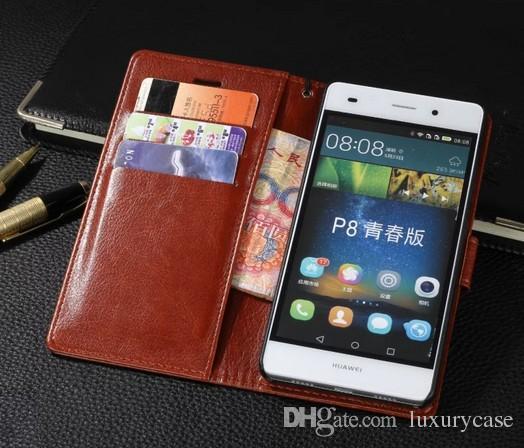 Huawei P8 Lite Için kılıf Durumda Çanta Çevirme Sevimli Kapak Lüks Renkli Orijinal Deri Kılıf Için Huawei Ascend P8 Lite P8 Mini