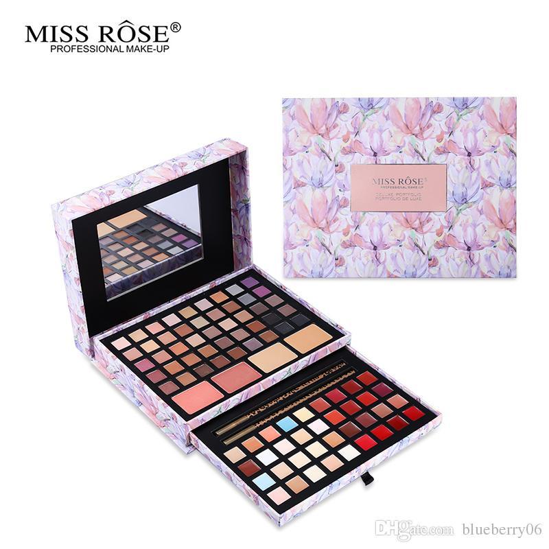 Makeup Sets Professional Flower Makeup Cosmetic Set Gift For Women Eyeshadow Lipstick Concealer Blush Mirror Kits Make Up Brand MISS ROSE Childrens Makeup ...