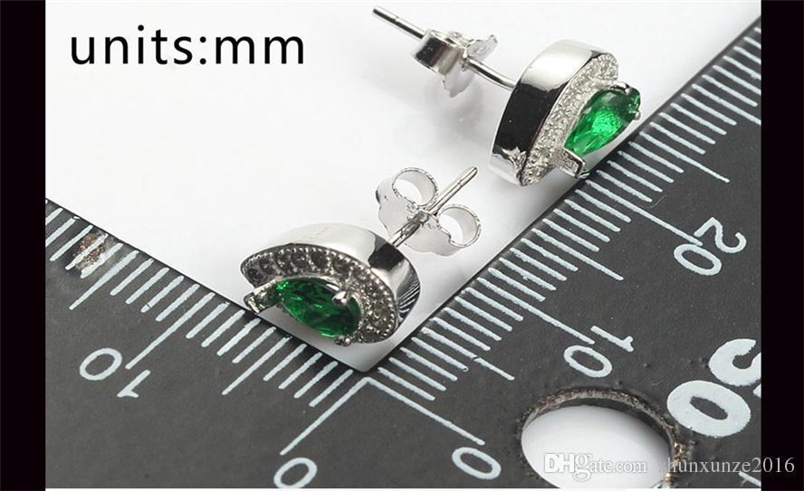 925 sterling silver Brincos Shinning Nobre Generoso Best Sellers S-3748 Verde Bonito Cubic Zirconia Produtos de primeira classe Recomendar Promoção
