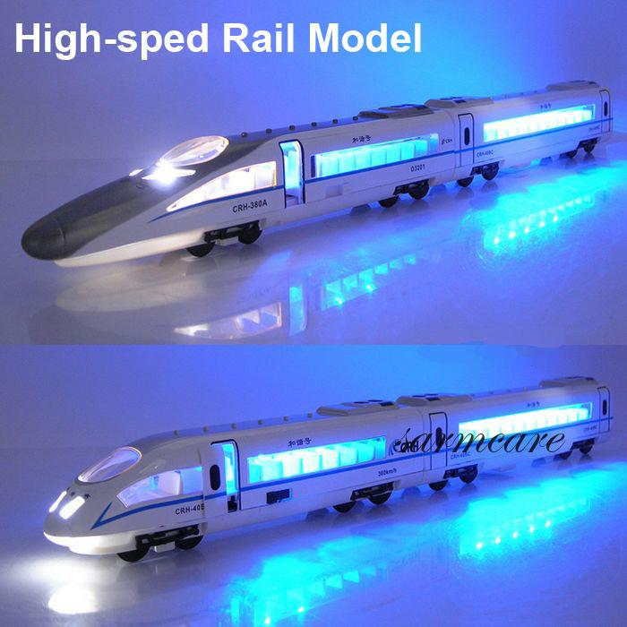 000166 - Free Shipping 4 Choices Quality Alloy Train Model Toy Diecasts & Toy Vehicles Kids Model Toy Real High-Speed Rail Toy