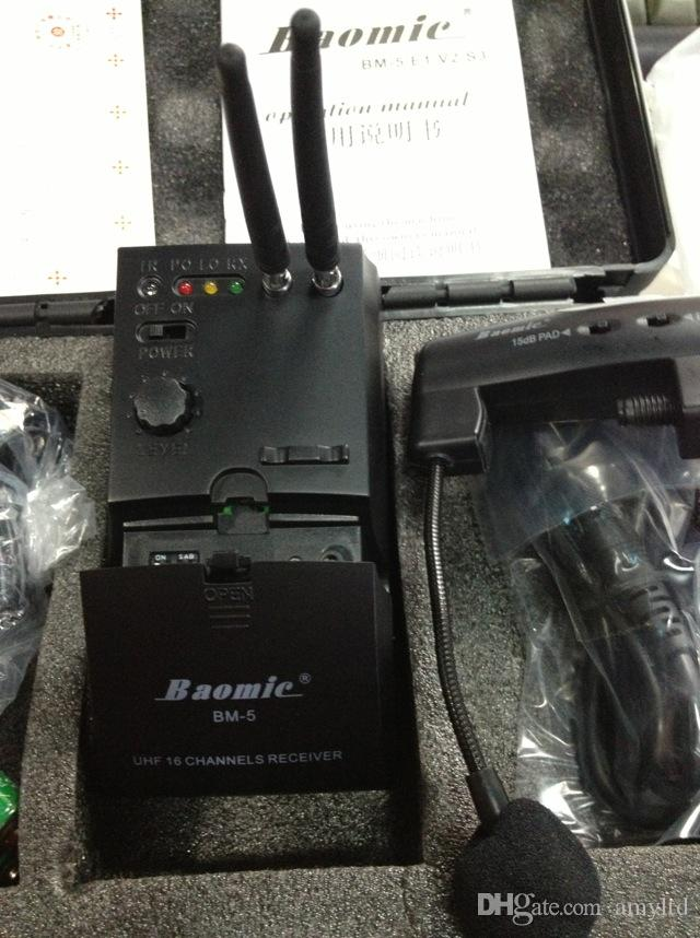 BAOMIC UHF 16 channels BM-5/S3 special violin wireless microphone musical instrument pickup microphone wireless microphone transmitter audio