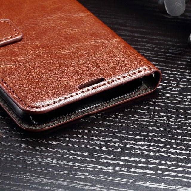 Cüzdan Deri Flip Case Kapak Kılıfı Standı Kart Yuvası ile fo Iphone 5 5 S 5C 6G 6 Artı 6 + 7 artı Samsung Galaxy S4 S5 S6 kenar artı S7 kenar