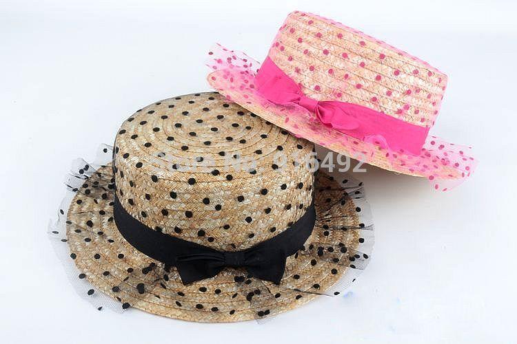 5640cb75a Wholesale-2015 Fashion Sun Visor Hats Women Net Bowknot Summer Viseira Sun  Hats Panama Straw Hat Bucket Hat Women Free Shipping