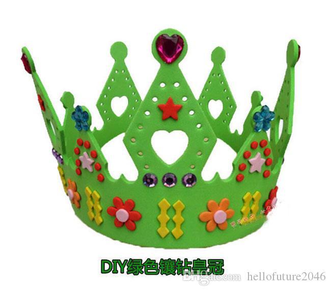 heiße EVA-Schaum-Geburtstags-Krone für Kindergeburtstagsfeier-Kappen Selbstklebende DIY handgemachte 3D Eva-Kronen-Hut-Handwerks-Ausrüstungen