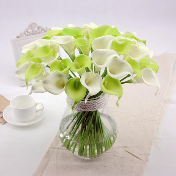 Calla Lily For Wedding Bouquet flower fragrance soft plastic flowers decorative floral calla real touch HP011