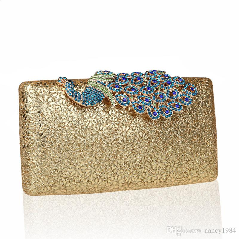 New Fashion Handbags High Quality Lady Evening Clutch Bag Phoenix Pattern Bridal Matching Bag Banquet Party Prom Handbag