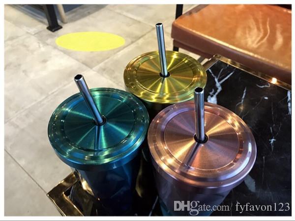 Yeni farklı tasarım Starbucks Paslanmaz Çelik Vantuz ile Tanrıça Yalıtım Fincan Yaratıcı Kahve Fincanı kapak a96