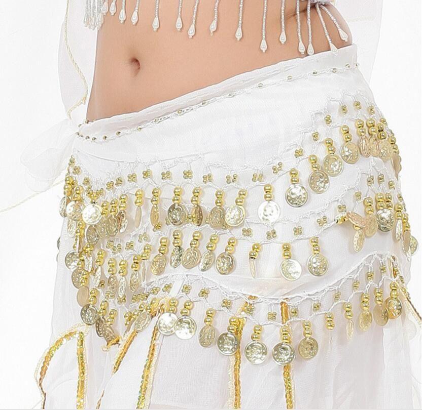 Ropa 3 Filas 98 Monedas Belly Egypt Dance Hip Skirts Bufanda Wrap Belt Costume High quality Stage Wear