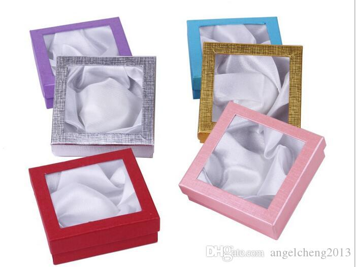 12ピースジュエリーチャームブレスレットブレスレットウォッチギフトボックスケースディスプレイボックス85x85x25mm複数の色がランダムに出荷