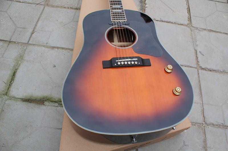 Custom guitar shop, classical music instrument 160E acoustic electric guitar,OEM logo,solid spruce top,made in China
