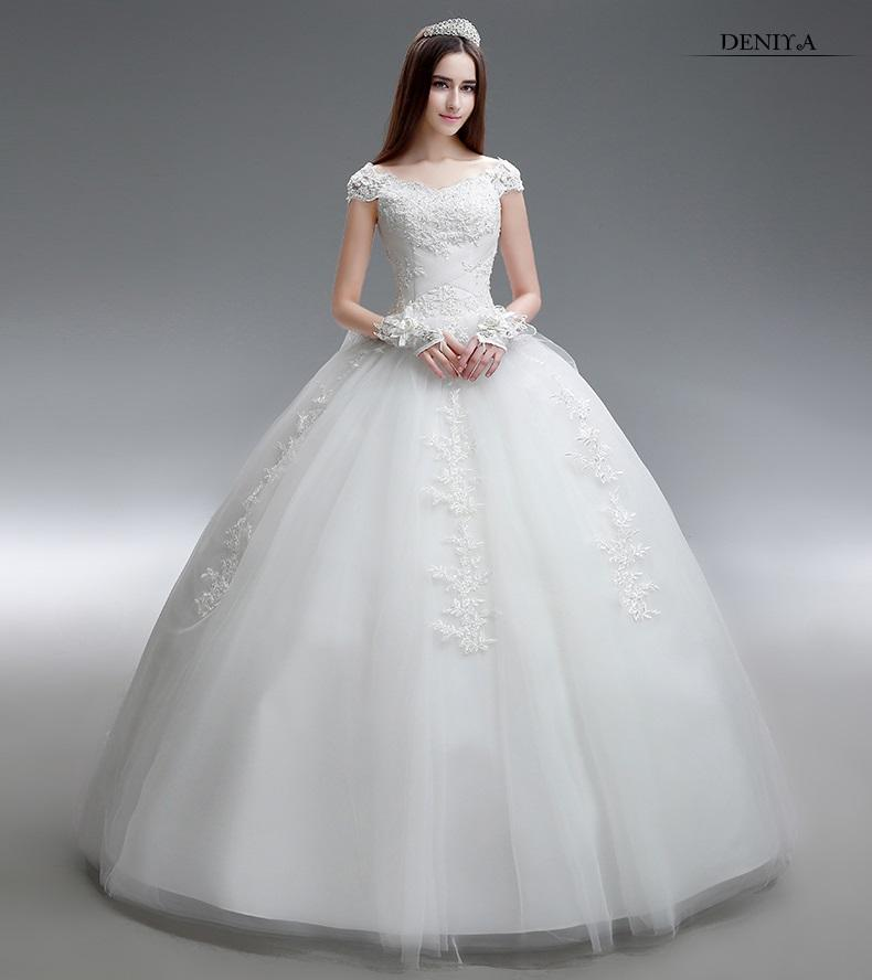 Tulle Ball Gowns Pretty Wedding Dresses Scoop Neck Lace Up ...