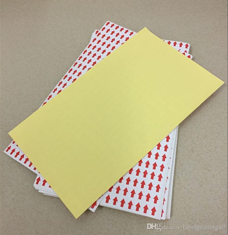 9 * 12mm / quare flèche rouge QC vérification étiquette papier autocollant