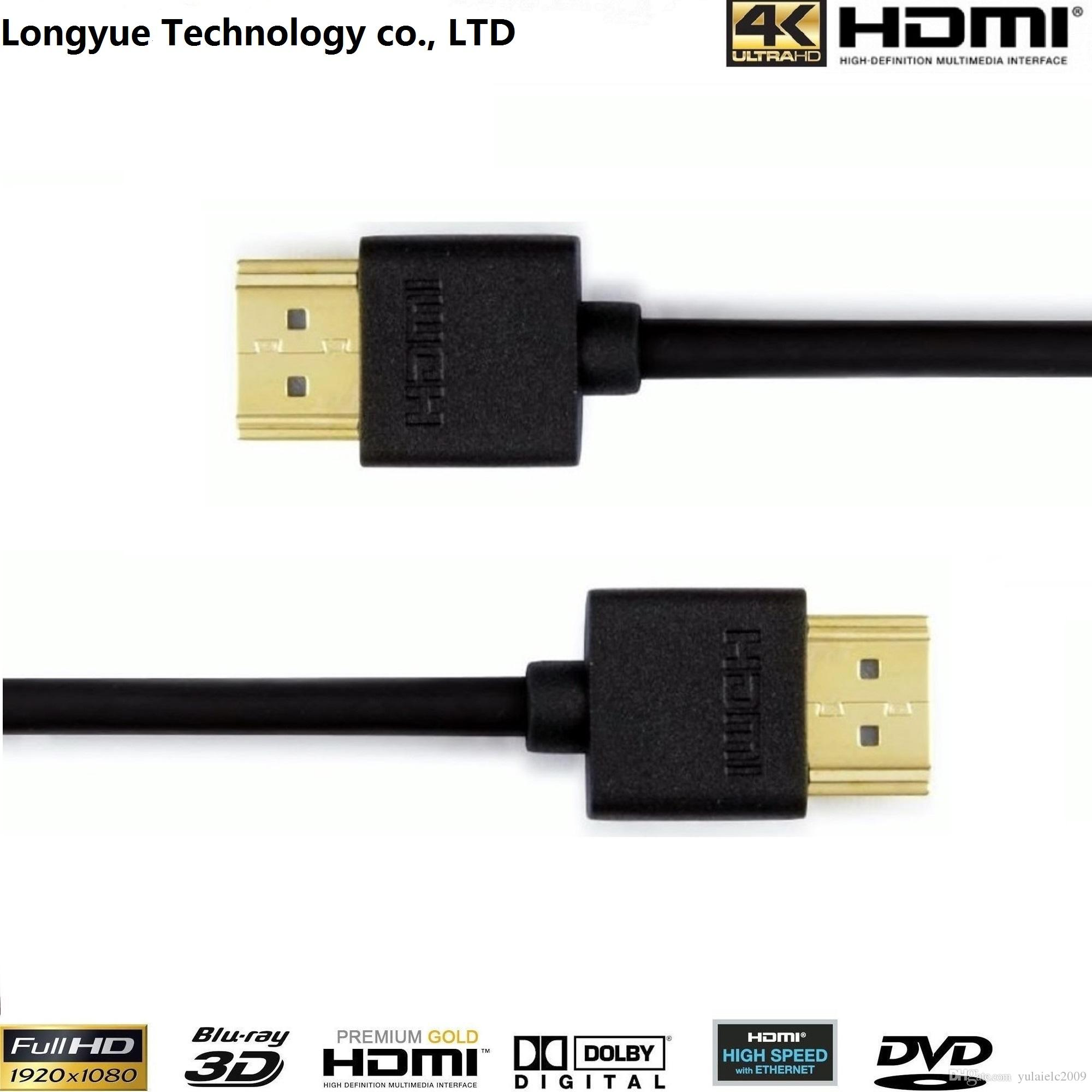 Wholesale Slim Hdmi Cable 0.5m With Ethernet 1.4 For Hd Tv\'S / Xbox ...