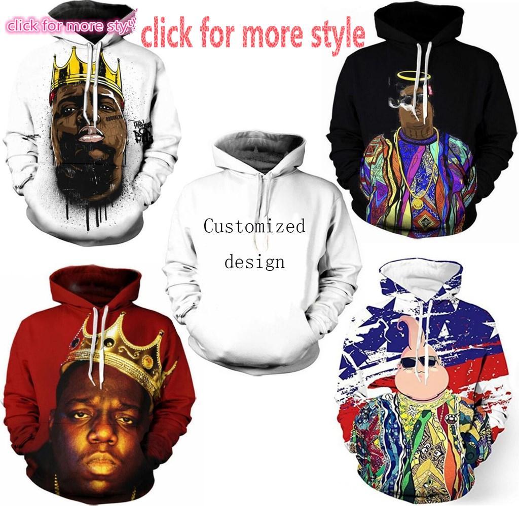 248c1b35216 2019 New Fashion Couples Men Women Unisex Rapper Biggie Smalls 2pac Tupac 3D  Print Hoodies Sweater Sweatshirt Jacket Pullover Top S 6XL TT129 From ...
