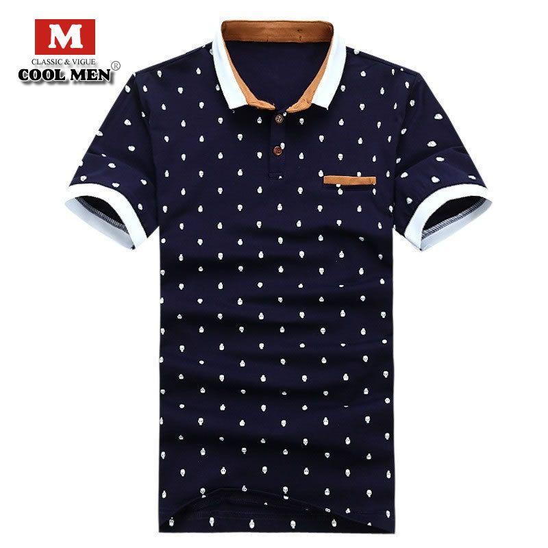 2017 1211 1211 Mens Designer Polo Shirt Brands Summer Style Dots ...