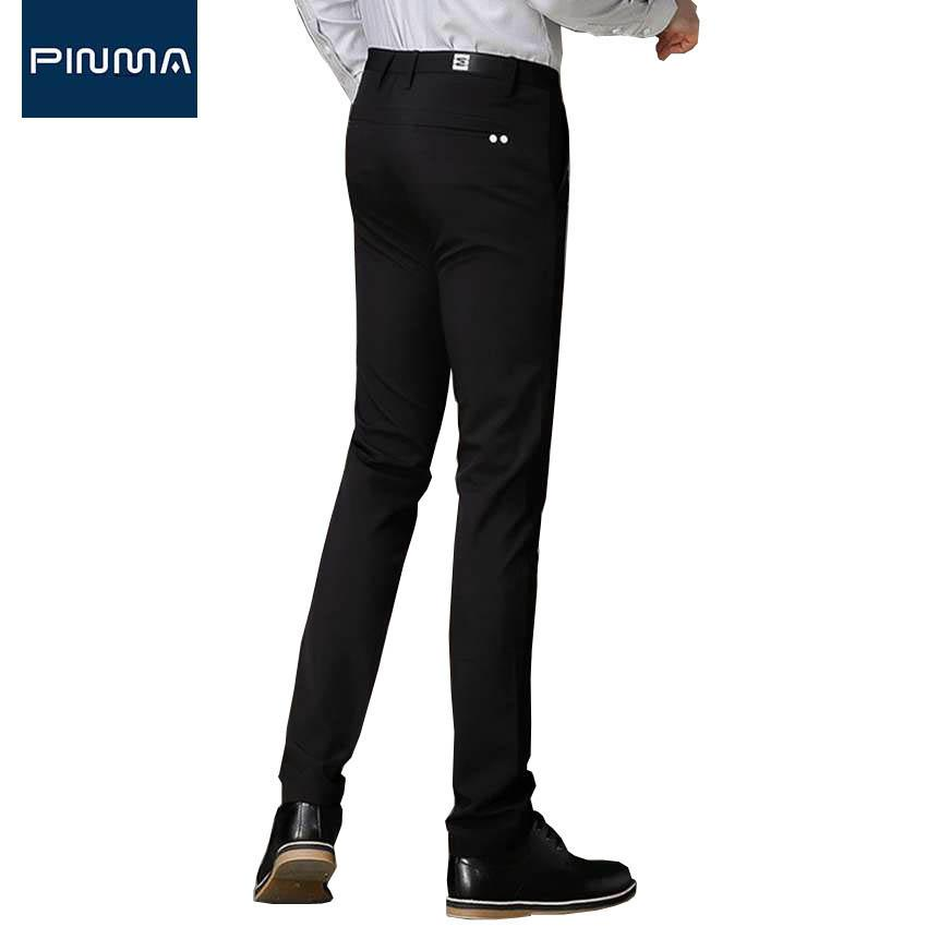 a99f2758a84 2019 Wholesale High Quality 2017 Black Casual Men Pant Slim Fit Suit Formal  Business Trousers OL Summer Spring Twill Pants Male Lightweight 445 From  Yakima