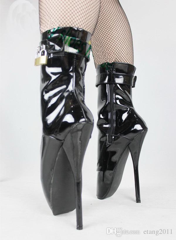 الجنس لعب بدسم sm لعبة صنم الفخذ العليا عبودية الكعب خاص مثير عالية الكعب الباليه الغرض أحذية للنساء ug أحذية الكاحل welly