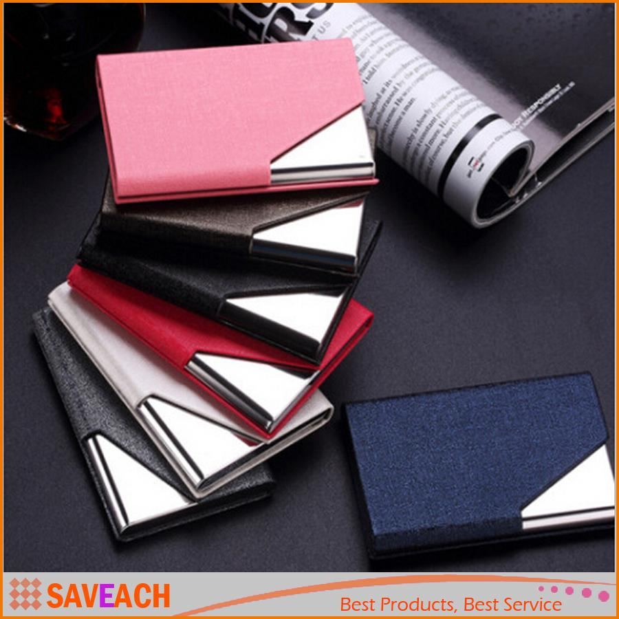 Luruxy PU Leather Business Credit Name Id Card Holder Case Wallet ...